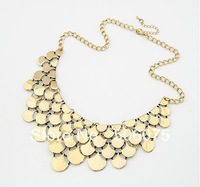 Min Order $10 New Antique Bib Statement Women Scale Chokers Necklace