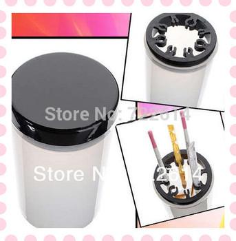 Nail Art Tip Brush Holder UV Gel Pen Polish Remover Cleanser Cup Plastic Bottle Tool Hot