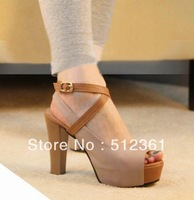 Sandals 2013 open toe shoe high-heeled shoes thick heel sandals cross-strap women's summer shoes fashion