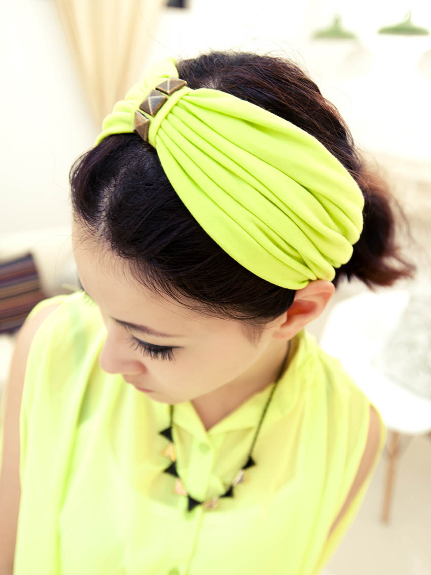 Fashion van it hot-selling rivet flavor tieclasps wide hoop hair band hair accessory f007(China (Mainland))