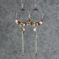 Multicolour pearl tassel earrings new arrival oversized earrings ring fashion vintage drop earring