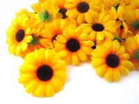 "24X  Gerbera Daisy Heads Artificial Silk Flower  1.75""  Yellow"