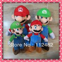 Free shipping Super mario plush doll 24cm mix 40pcs/lot Soft plush Toys