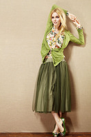summer women's vintage gauze full dress chiffon a-line Free shipping