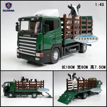 4 wheel cow transport vehicle gift box alloy car model