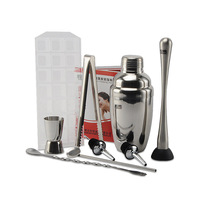 Stainless steel cocktail shaker set piece set 550 cocktail combination lq2137
