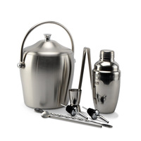 550ML Stainless steel cocktail shaker deluxe ice bucket cocktail set 8pcs includes lq2129