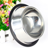 free shipping pet bowl stainless steel dog bowl dishes drinking water bowl teddy pet supplies