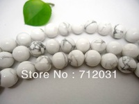 wholesale Round Natural White Howlite For DIYJewelry Beads One String  4*6*8*10*12mm Buyer Can Choose Size