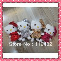 Free shipping sequin hello kitty plush doll 18cm mix 40pcs/lot Soft plush Toys