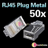 Metal Shield RJ45 RJ-45 8P8C Network CAT CAT5E Modular Plug Connector [8799|01|50]
