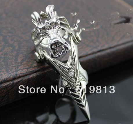 Dragon Fashion Knuckle Ring Skeleton Joint Punk Ring Rock Alternative Ring from men YiWu Jewelry wholesale Free Shipping R044(China (Mainland))