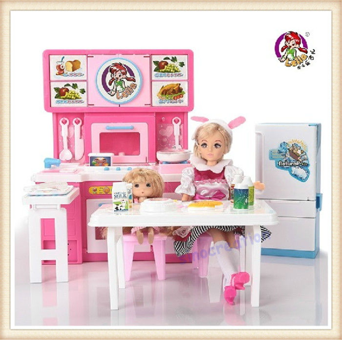Free Shipping High Quality Lelia Vinyl Doll Toys Kids Educational Dream Big Kitchen Toy Set Best Fashion Dolls For Children(China (Mainland))