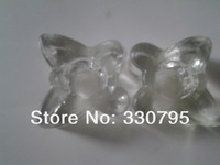 Facilities European glass candlestick rod wax candle butterfly bars candlelight dinner