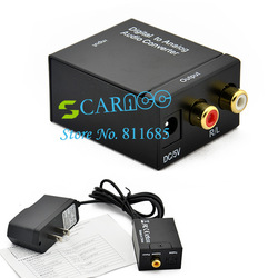 2013 New Digital Converter Optical Coaxial Optical to Analog RCA Audio Converter TK0556(China (Mainland))