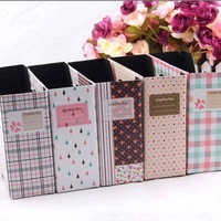 [FORREST SHOP] Free Shipping 15*5.5*13cm DIY Paper Desk Office Storage Organizer Box 10 pieces/lot high quality FRS-28