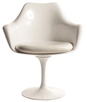 Tulip Dining Chair with Cushion x Free Shipping x White Color
