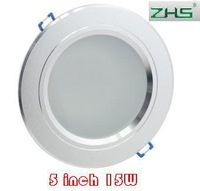 5 inch 15W LED downlight lamp Frosted Glass Antifog Bathroom Recessed Ceiling Down Light lamps 85V-265V input 3pcs/lot