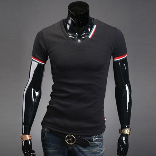 2013 NEW Men's T shirts Stylish coat Short Sleeve Jacket Casual T ...