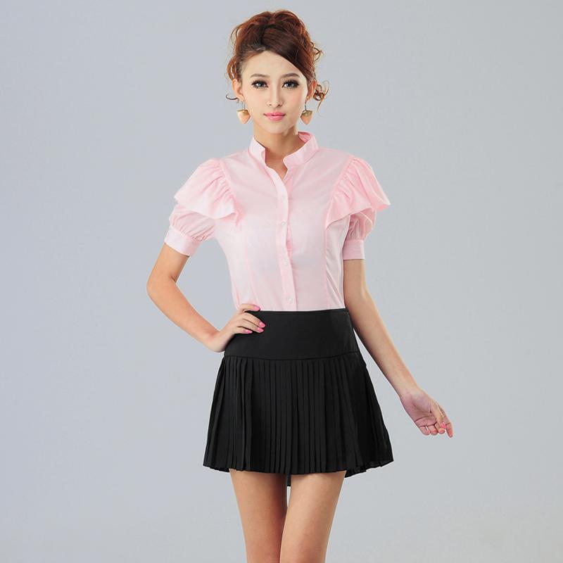 Women'S Plus Size Short Sleeve Blouses 112