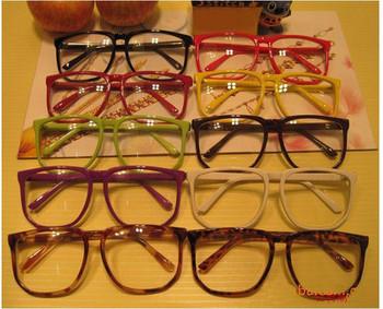 Large Clear Lens Glasses Square Party Fancy Dress Big Nerd Unisex Men Women Gift