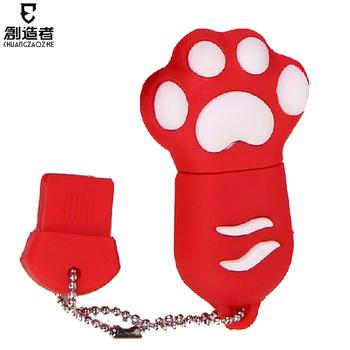 16gu plate bear paw cartoon usb flash drive usb flash drive personalized