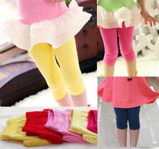 Bb yellow legging female small children's clothing infant legging baby legging red