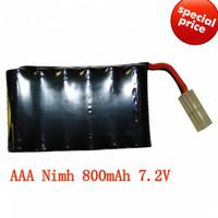 AAA Rechargeable NIMH Power Battery Cell 7.2V  6V  4.8V 800mAh  for rc toys nimh packs
