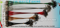 5 Colors 100 X Fishing Wire Spinner Leader w/ Swivel +Interlock Snaps Free Shipping
