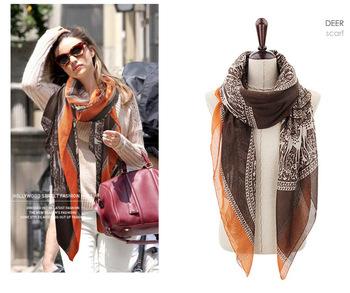 2014 style deer headbands for women's scarf cotton autumn Long Scarf  Fashion winter big Shawls 180*110