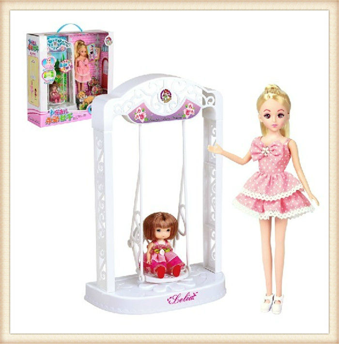 Free Shipping High Quality Lelia Vinyl Dolls Kids Educational Electronic Swing Toy Set Best Fashion Dolls For Children(China (Mainland))