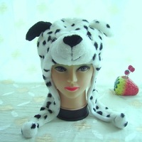 dog desgin two color animal hats with dot on it free size warm hats factory direct