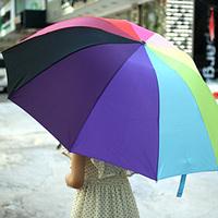 Free Shipping Fashion multicolour folding umbrella super large rainbow umbrella sun protection umbrella 35132