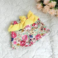 2013 children's pants toddler flower shorts chiffon bow baby small gentlewomen shorts 42103