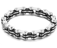 PUNK Biker Chain Lock 316L Stainless Steel Mens Bracelet Fashion Jewelry Bicycle Bracelets Jewelery Bangles For Men Luxury