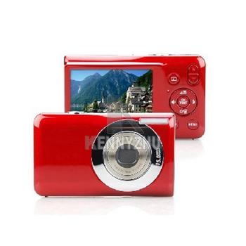"15 Mega Pixels 2.7"" LCD Panel Sreen 5X Optical Zoom Digital Camera Pink Red Black Free Shipping"