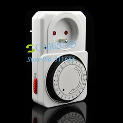 New arrival 24 Hour 24HR Mains Plug In Timer Switch Time Clock Socket EU Plug TK0561(China (Mainland))