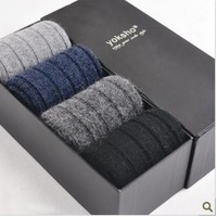 Socks male wool socks male thickening thermal socks winter knee-high gift box set men's socks commercial