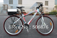 Off Road Electric Bicycle, 2013 Latest 48V 1000W Electric Bike with F/R Disc Brake, with Adjustable and Locable Front Suspension
