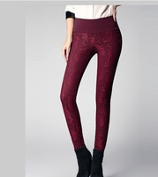 Free Shipping 2013 Spring New Lace Stitching Elastic Thin Pencil Pants