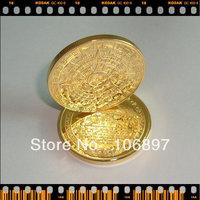 1pcs/lot 24k gold clad replica Mayan 2012 Prophecy Coin ,Commemorative Coin