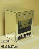 2013 hot sale modern style bedsid table and mirror cabinet