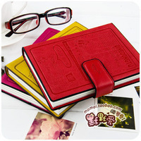 Free Shipping  fresh small rabbit leather magnetic buckle cute diary tsmip Medium 30006