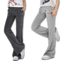 Free shipping 2014 spring women's velvet sports pants casual pants cotton pants plus size plus size sports trousers 610