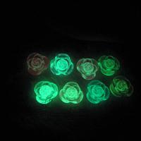 Crystal resin flower 11mm diameter rhinestone pasted mobile phone diy accessories materials luminous