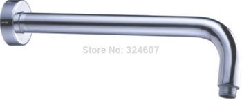 2015 Promotion Acessorios De Banheiro Acessorios Banho High Quality 30cm Length Round Wall Mounted Solid Brass Chrome Shower Arm