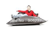 The original !!  outdoor buggle up dark grey bean bag, waterproof belt beanbag chair - free shipping