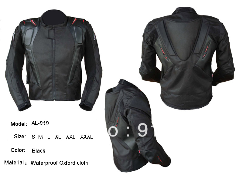 Free Shipping Oxford professional racing/motorcycle Jacket with hump black color(China (Mainland))