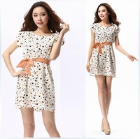 Free shipping new arrival high style lady cute dress,short sleeve summer dress,size:S-XL