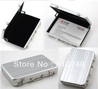 Free shipping ID Holders Password Aluminium Credit Card Holder Mini Briefcase Business Card Case